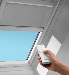 Velux solar blackout blinds to be used with manual venting for Velux skylight remote control manual