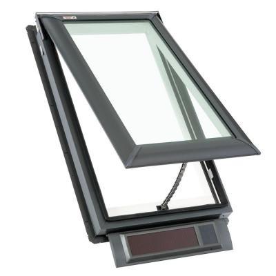 Vss c01 2004 solar powered fresh air deck mounted skylight for Velux solar blind battery